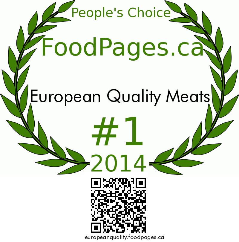 European Quality Meats FoodPages.ca 2014 Award Winner