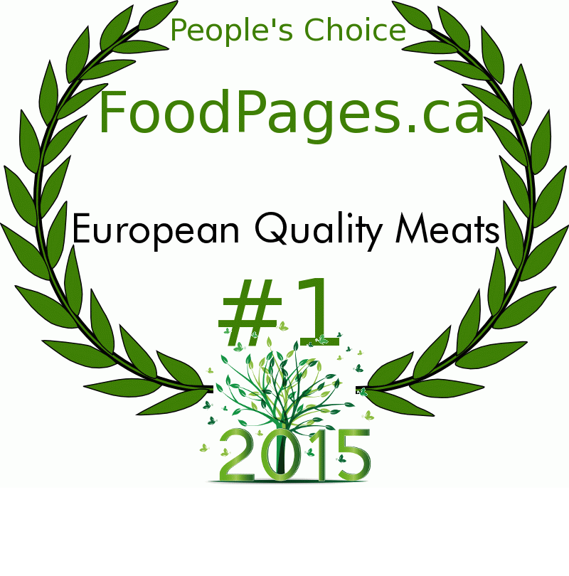 European Quality Meats FoodPages.ca 2015 Award Winner